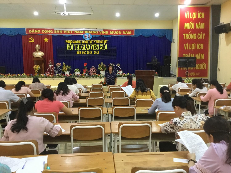 Hội thi giáo viên giỏi vòng Thành phố năm học 2018 - 2019